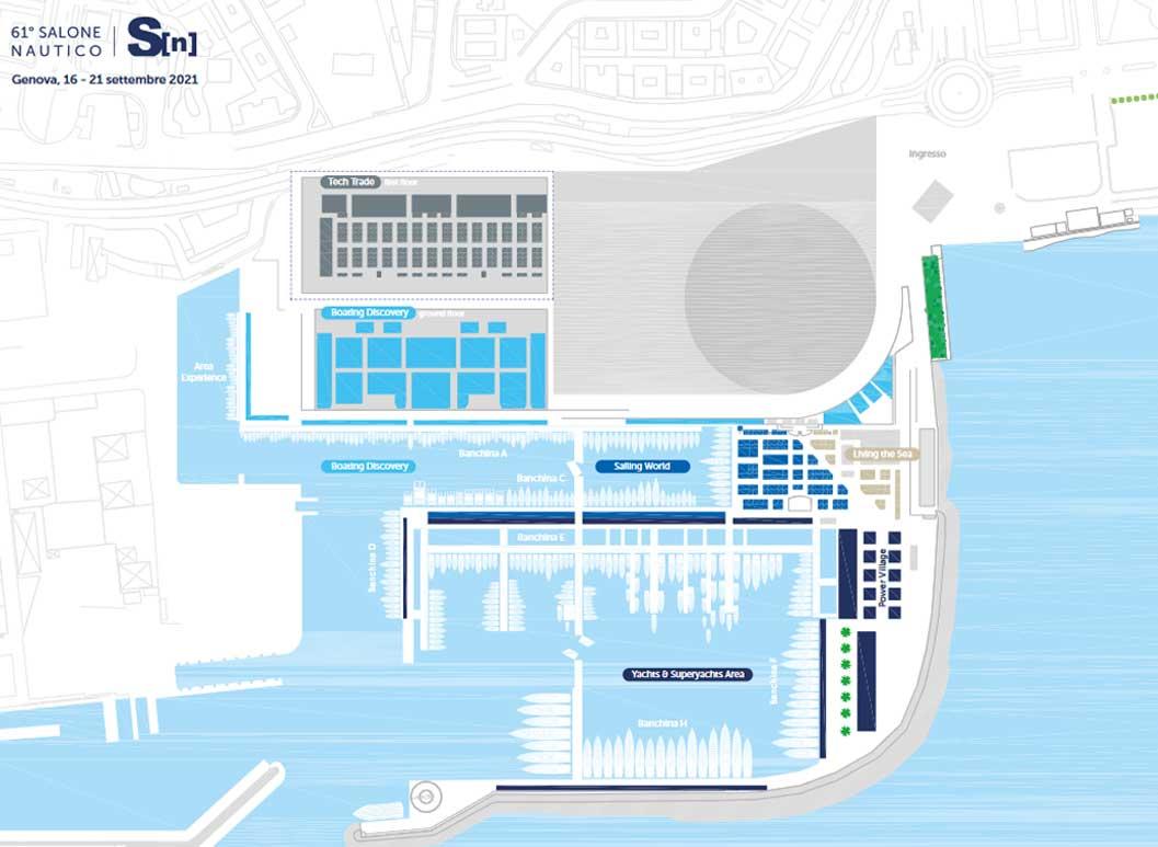 61° Salone Nautico Internazionale di Genova - Mappa